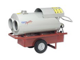 Job-Site Heaters in electric, kerosene, diesel or propane